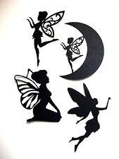 8 x Silhouette Fairies Die Cuts, Set 1: Black