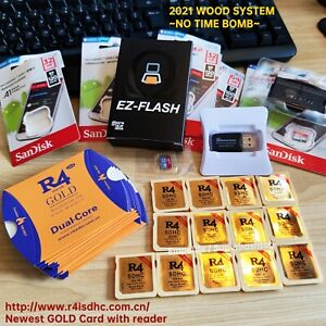 2021 R4iSDHC Gold R4i 3DS NDSll Wood System Optional 32g card w 486 NDS games