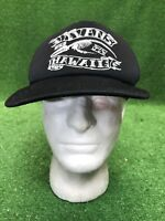 Vintage VANS HAwAII Surf Skate Black Trucker Mesh SnapBack Hat Cap Rare
