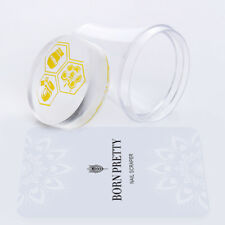 4cm XL Clear Jelly Nail Art Stamper Silicone Marshmallow With Cap & Scraper Set