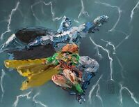 "Original Abstract Batman Carrie Dark Knight Returns Painting Comic Wall Art 16"""