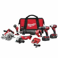 Milwaukee 2696-26 M18 18V 6-Tool Cordless Combo Kit Circular Saw Impact - NEW !!