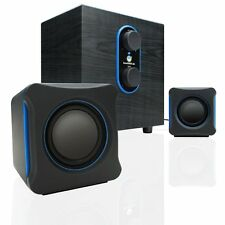 GOgroove SonaVERSE LBr 2.1 USB Computer Speakers with Bass Subwoofer