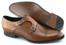 Men's TO BOOT NEW YORK 'Grant' Brown Leather Monk Strap Loafers Size US 12 - D