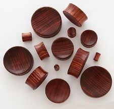 1 Pair 6g 4mm Red Tiger Wood Organic Solid Concave Ear Saddle Plugs Gauges 805