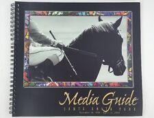 1999 2000 Media Guide Santa Anita Park Thoroughbred Horse Racing Spiral Bound