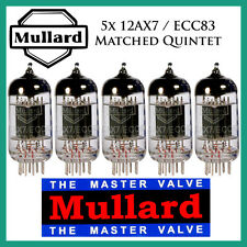 New 5x Mullard 12AX7 / ECC83 | Matched Quintet / Five Tubes