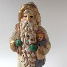 "Old World Santa Figurine Midwest Of Cannon Falls 11"" St Nick Gold Gilt Euc"