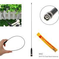 BNC Antenna Ultra-thin RH771S VHF+UHF for Icom IC-V8 IC-V80 Radio Kenwood