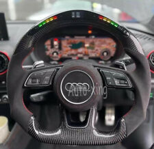 Led Carbon Fiber Flat Steering Wheel for Audi S3 S4 S5 S6 S7 B9 RS4 RS5 RS6 RS7