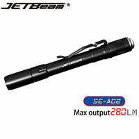 Jetbeam SE-A02 Cree XP-G 280 Lumens LED AAA Flashlight Tailcap Switch Control