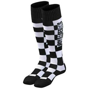 Troy Lee Designs GP MX CoolMax Thick Boot Socks - Checkers Black