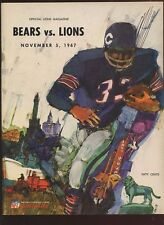 November 15 1967 NFL Football Program Chicago Bears at Detroit Lions EXMT
