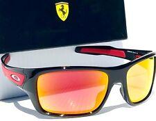 961ce65e90 NEW  Oakley TURBINE Ferrari Black w RUBY Iridium Sunglass 9263