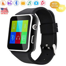 Black Bluetooth Smart Watch Wristwatch Phone for Android Samsung Galaxy S9 S8 S7