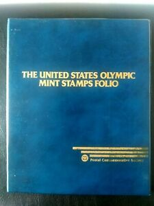 THE UNITED STATES OLYMPIC MINT STAMPS SPECIAL FOLIO ( 1932-1984 MNH US STAMPS )