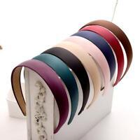 Womens Wide Plastic Headband Hair Band Hair Hoop Lots Satin Headwear Accessories