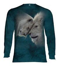 The Mountain Adult White Lions Love Animal Longsleeve TShirt