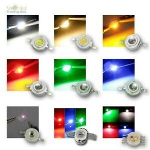 Haute Puissance LED 3 Watt, Divers. Couleurs, Émetteur Puce, 3W Tension Leds