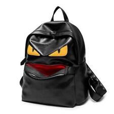 Womens Mens Little Monster Backpack School Book Bag PU Leather Shoulder Bags