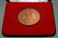 Original Montreal 76 Summer Olympic Official Participation Medal In Case + Box