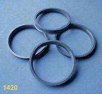 4x Zentrierringe 74,1 mm  66,6 mm grau für Alufelgen 1420