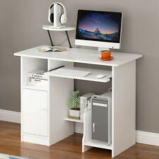Computer Desk Home Office With Cupboard Shelves Workstation Modern Stuay Table
