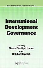 International Development Governance Huque Zafa Public Administration and Policy