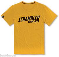 DUCATI SCRAMBLER Milestone kurzarm T-Shirt gelb NEU