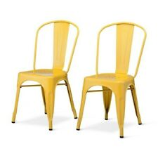 Carlisle High Back Dining Chair - Set of 2, Yellow