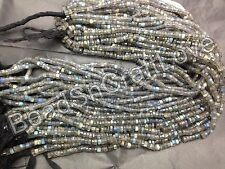 Labradorite moonstone Faceted Tire wheel shape gemstone beads 4-5mm 1str 13inch