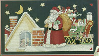 Santa On The Roof Christmas Cross Stitch Pattern from magazine And Santa Doll