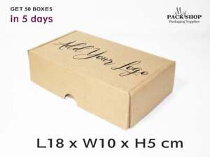 BROWN SHIPPING CARDBOARD BOXES Die Cut Folding Lid Small POSTAL MAILING GIFT Box