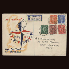 Great Britain 1951 (FDC) King George VI Definitives