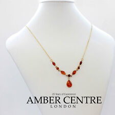 Italian Made Elegant Baltic Amber Necklace in 9ct Gold-GN0056  RRP£390!!!