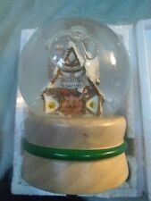 Vintage Willitts Musical snow globe Christmas wish processing department 8608