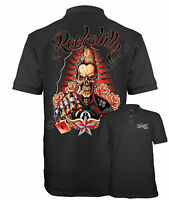 Velocitee Speed Shop Mens Polo Shirt Rockabilly Greaser Rock And Roll W17478