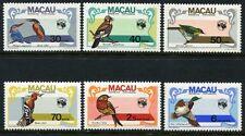 Macau Macao 1984 Vögel Birds Uccelli Oiseaux 522-27 Postfrisch MNH