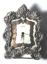 Antique Gorham Cyma Watch Co. Alarm Desk Clock Sterling Silver Repousse