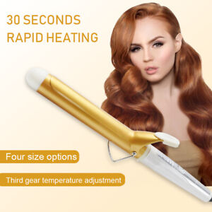 Curling Iron Coating Curling Wand Anti-Scald Hair Curler Adjustable Temperature