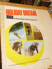ORIGINAL TRAVEL POSTER C1969 HOLIDAY IN BRITAIN VGC LOW POSTAGE UK