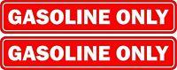 Set 2x aufkleber stiker auto motorrad helm gasoline only mietwagen rot