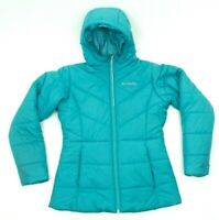 Columbia Mint Green Quilted Light Weight Girls Hooded Jacket Puffer Size Large