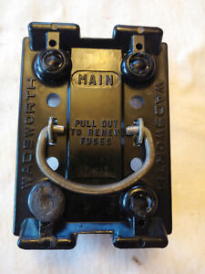 """Wadsworth 50/60 Amp """"MAIN"""" 2-fuse Pullout Holder"""