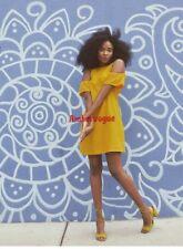 ZARA YELLOW SHORT DRESS SIZE S UK 8