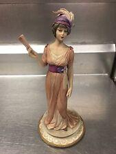Luigi Fabris Figurine Women With Fan In Hand Limited Edition 1000