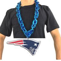 New NFL New England Patriots Blue Fan Chain Necklace Foam Magnet -2 in 1