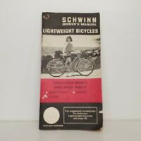 SCHWINN 1971 OWNERS MANUAL LIGHTWEIGHT BICYCLES single speed & three speed A8