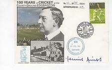 DENNIS AMISS SIGNED FIRST DAY COVER ENGLISH CRICKET '100 YEARS OF CRICKET'