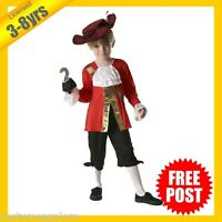 RUBIES Boys Costume Fancy Dress Disney Licensed Pirate Captain Hook 880074